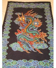 DRAGON SINGLE BED COVER