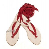 Cotton strap sandal