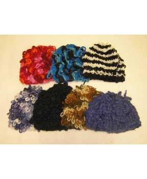 LOOPY WOOL KNITTED BEANIE