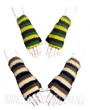 WOOLEN KNITTED HAND WARMERS WITH FLEECE LINING