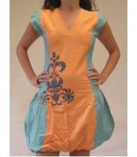 2 tone balloon dress