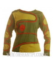 Long sleeved COTTON DRAGON top