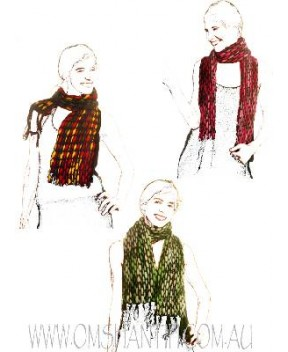 CHECKS WOOLEN SCARF