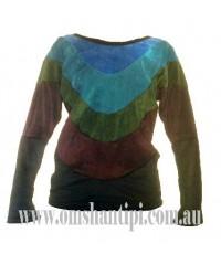 velvet  long sleeved, 3 colour t-shirt