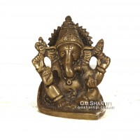 Ganesha floating leaf statute