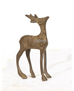 Standing Deer brass ornament