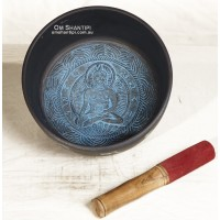 Med Blue Buddah Singing Bowl