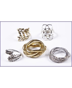 assorted brass rings