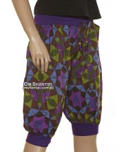 3/4 Cotton Harem Pants-Lycra
