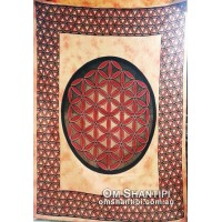 Flower of Life Queen Size Throw