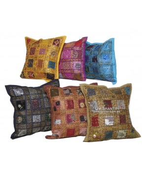 Gold Thread Cushion Case 40x40