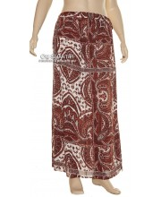 Crepe Rayon Boho Long Skirt