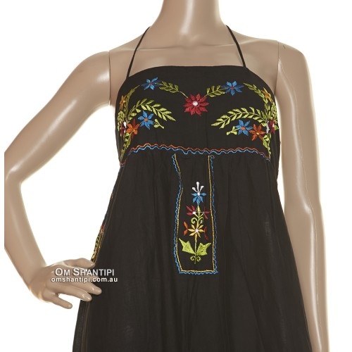 Rayon embroidered stevie dress