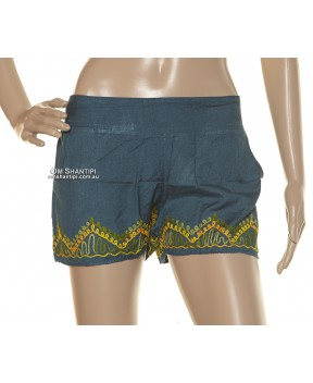 Rayon Embroidered Hendrix Shorts