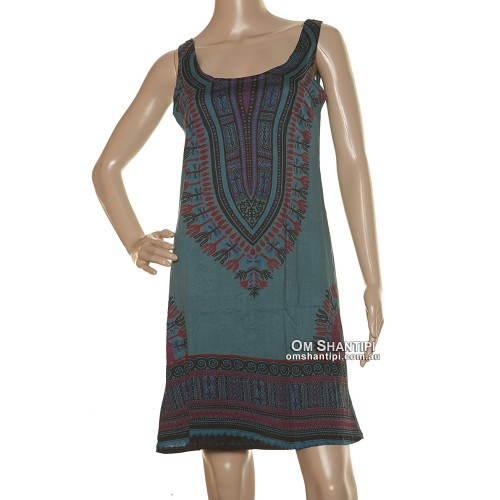 African Print Cotton Sun Dress