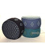 Diamond Canvas Ottoman