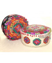 Aztec Multi Color Ottoman