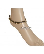 Brass Bead Anklet