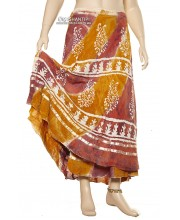 Batic Long Wrap Skirt