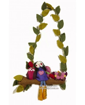 Felt Hanging Girl Mobile