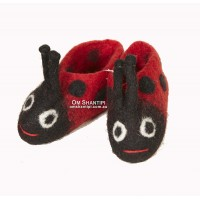 kids pet felt slippers