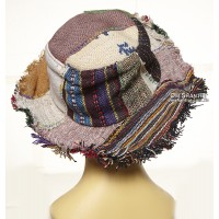 Hemp Brim Hat Raw Edge