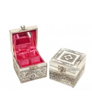 Sm. Metal Carving Jewellery Box
