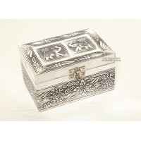Med.Metal Carving Jewellery Box