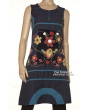 Heavy cotton dress w/Velvet patch dress