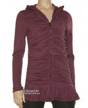 Milanch hooded wave cardigan