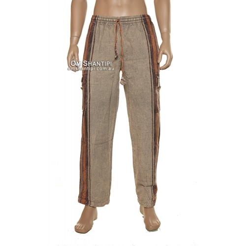 SHYAMA COTTON ELASTIC PANTS stone wash,happy pants