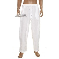 White Wash Cotton Pants