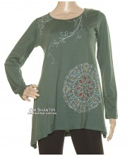 L/S Cotton Dress Big Mandala