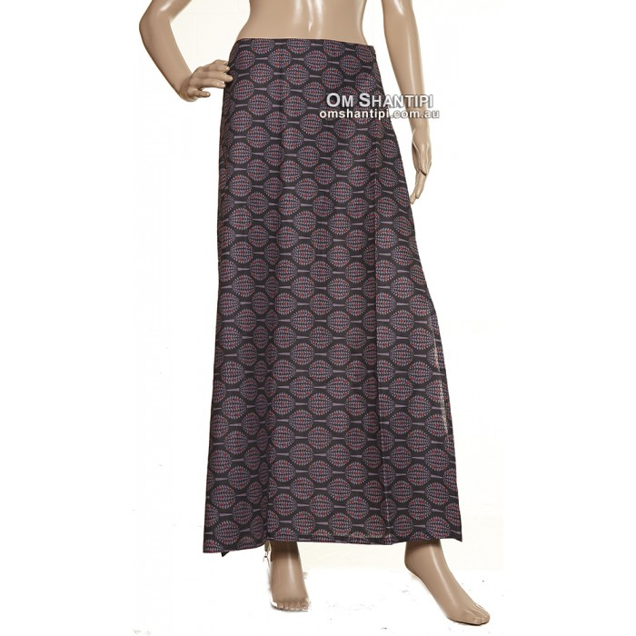 cotton maxi skirt split