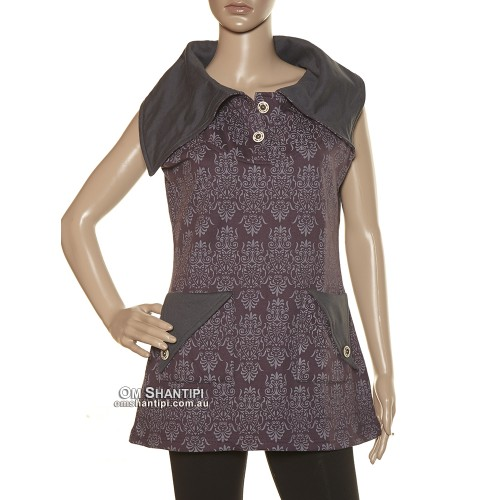 Cotton Fleece Sleeveless Tunic